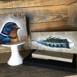 BIRDS ON BARNWOOD COLLECTION #1 @ Chicago Woodfire Pizza Company